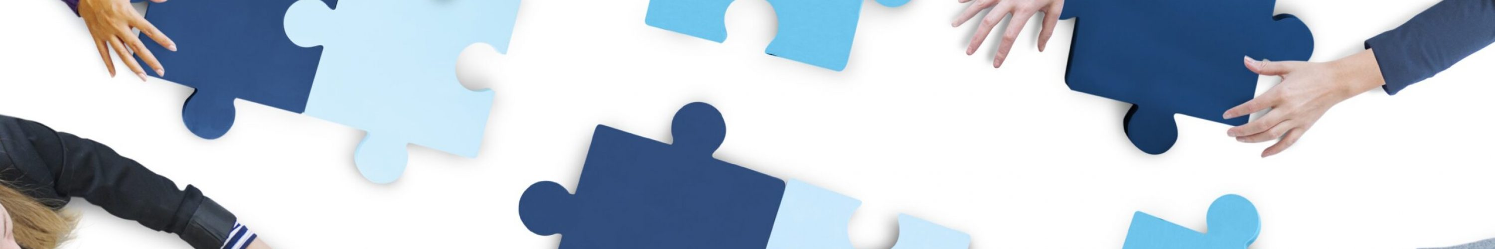 Aerial,View,Of,Business,People,Piecing,Puzzle,Pieces